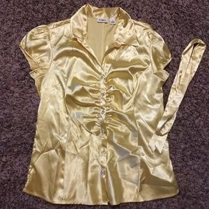 Dress shirt- yellow- size S